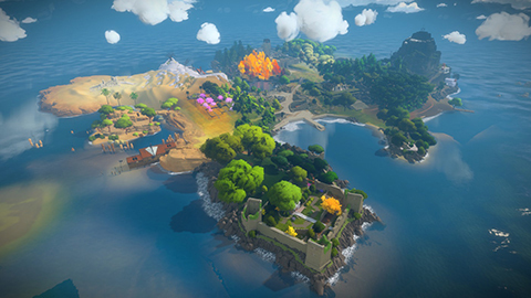 The Witness tells a story through puzzles and environment details.