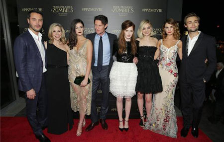 Most of the cast at the L.A. Premiere