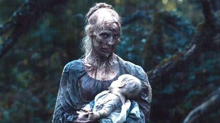 Zombie mom and zombie baby
