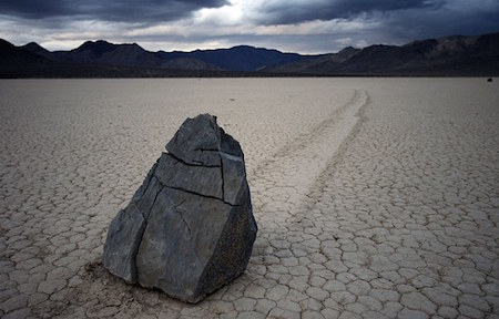 Sailing stones typically leave a noticeable track, showing where they have come from.