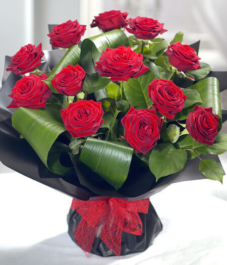Red roses stand for romantic love.
