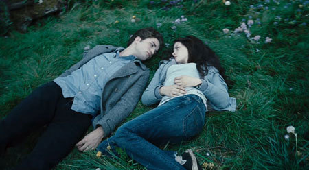 Edward and Bella falling in love