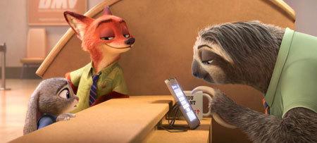 Flash the sloth at the DMV
