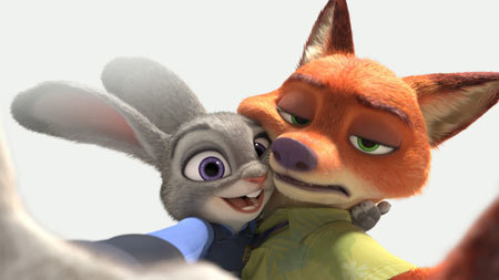 Judy hugs new pal Nick