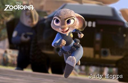 Rookie rabbit officer Judy Hopps