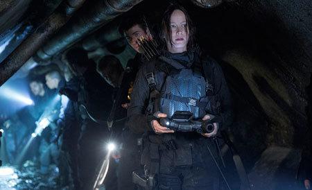 Katniss tracks her way through the pods