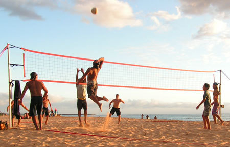 Get outside and play Beach Volleyball!