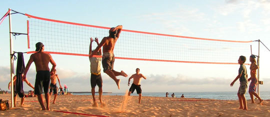 Playing Volleyball