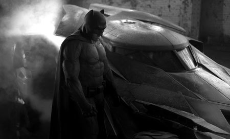 Batman with the batmobile