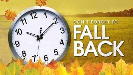 Daylight Savings Fall Back!