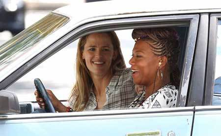 Angela drives Christy (Jennifer Garner) around town