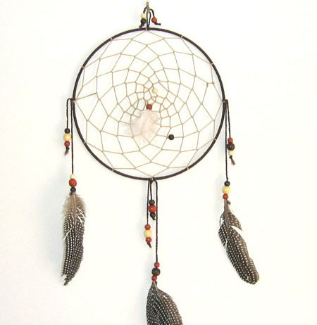 A dream catcher brings luck and is a beautiful addition to your home.
