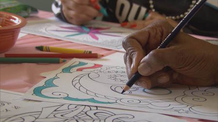Coloring can really help you chill out.