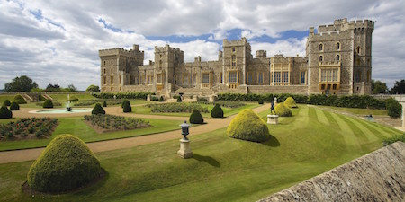 Windsor Castle is one of the official homes of the British royal family.