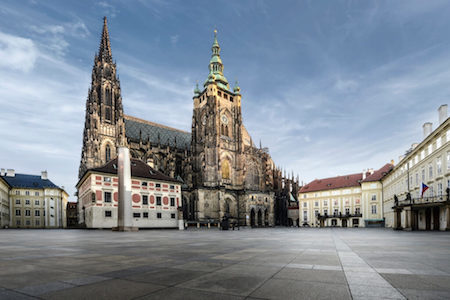Prague Castle is located right in the city of Prague.
