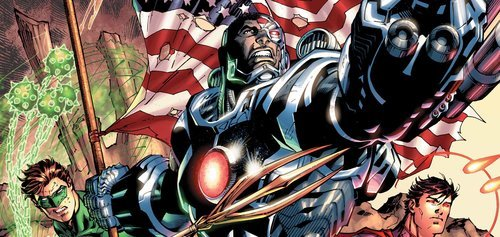 Together with other classic DC heroes, Cyborg is an original member of the new Justice League.