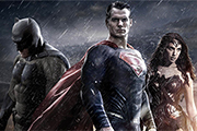 Batman, Superman, and Wonder Woman from their new film.