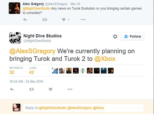 Turok is headed to Xbox One.
