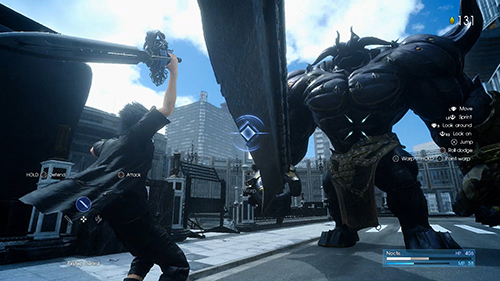 Noctis fights an epic boss! Download the FFXV Platinum Demo today for PS4 and Xbox One.