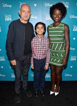 Sir Ben, Neel and Lupita at the Disney Expo
