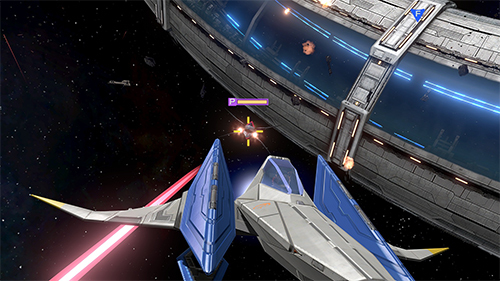 Flying Star Fox's Arwing through a dogfight is as thrilling as ever.