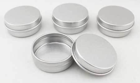 Round 1/2 Ounce Aluminium Containers