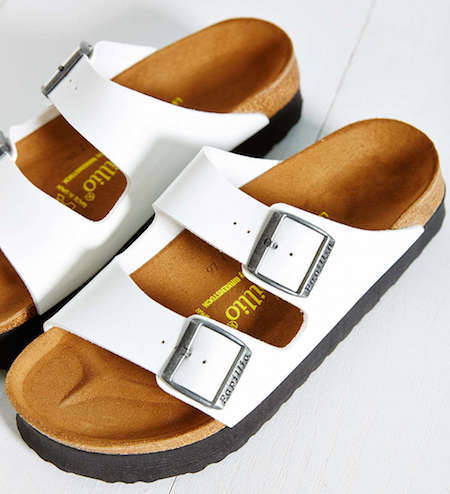 White birkenstocks are making a huge comeback!