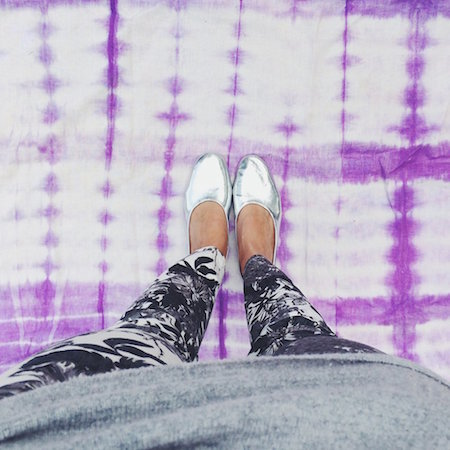 Silver flats make an outfit pop!