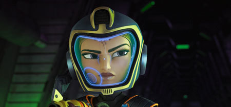 Feisty Cora voiced by Bella Thorne
