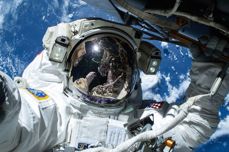 Barry Butch Wilmore's selfie from space
