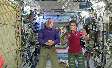 Butch Wilmore onboard the station with Flight Engineer Cristoforetti