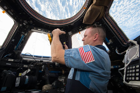 Shooting out the cupola window