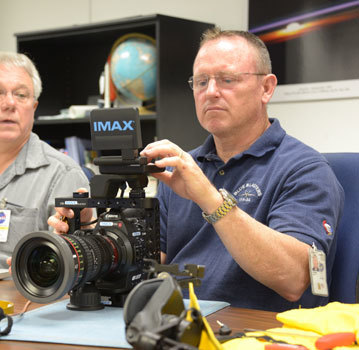 Commander Wilmore learns the IMAX camera