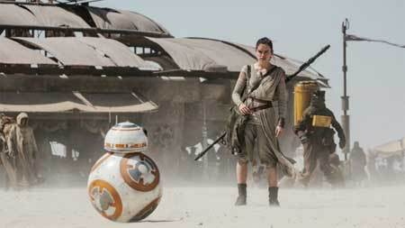 BB8 with Rey