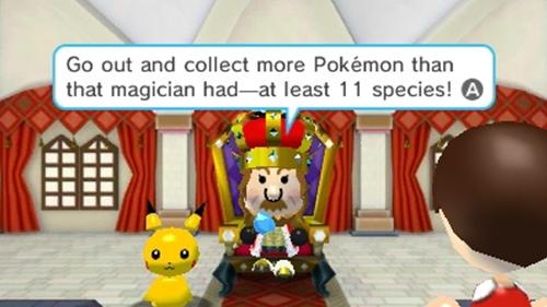 The Pokémon King sitting next to his favorite Pikachu.