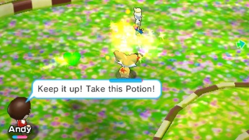 Your Mii trainer can throw a little help to your playable Pokemon.