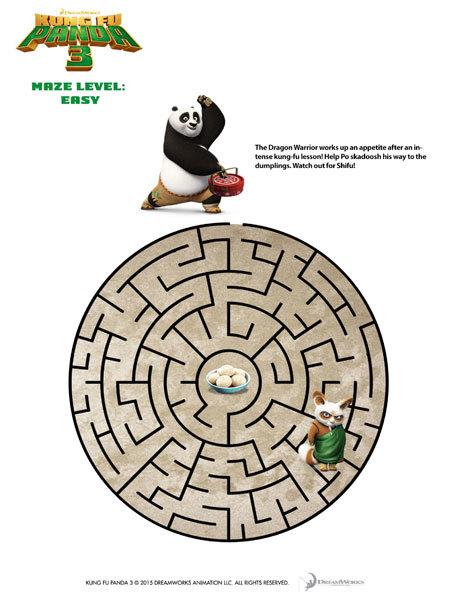 Kung Fu Panda 3 Maze