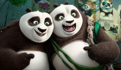 Po and his long-lost panda father Li
