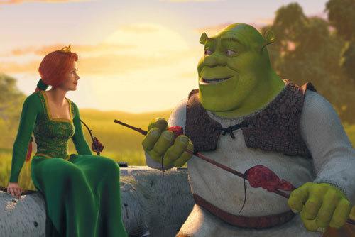 Fiona nd Shrek falling in love