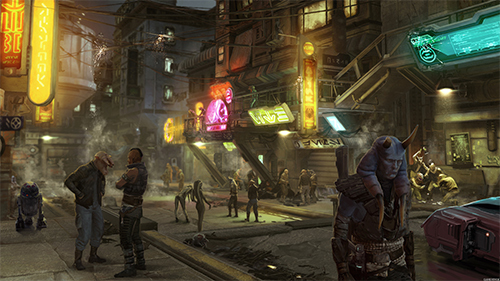 Concept art from the now cancelled Star Wars 1313.