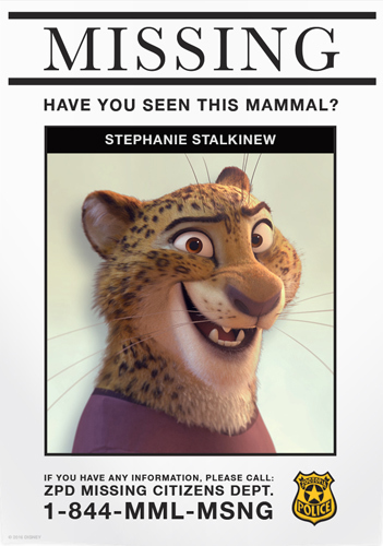Zootopia Missing Citizen Poster | Stephanie Stalkinew