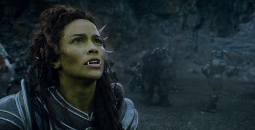 Close up of Garona played by Paula Patton