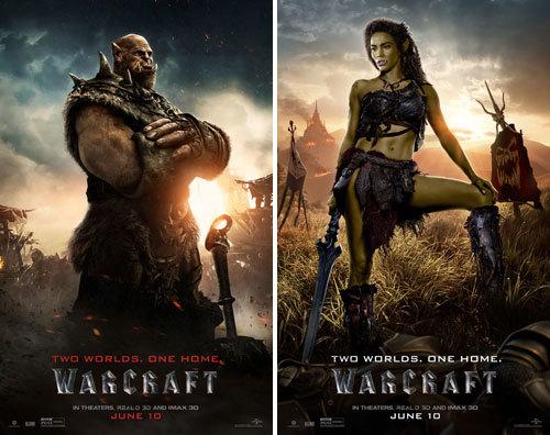 Orgrim Doomhammer (Robert) and Garona Halforcen (Paula)