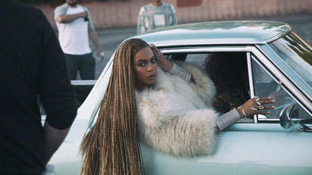 Beyoncé in her Formation Video