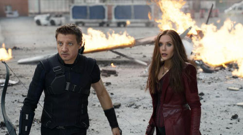 Scarlet Witch with Hawkeye