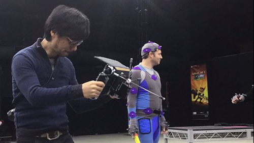 Hideo checks out the motion capture at Sony, used on The Last of Us and The Order: 1886.