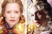 Alice Through the Looking Glass Actors Anne Hathaway and Mia Wasikowska