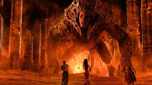 Thoth and Hathor confront Sphinx
