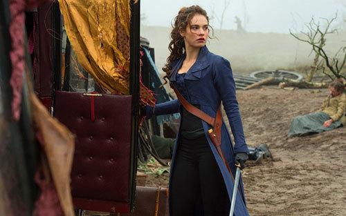 LiIly James as Liz after a horrific battle