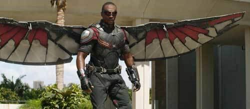 Falcon spreads his wings